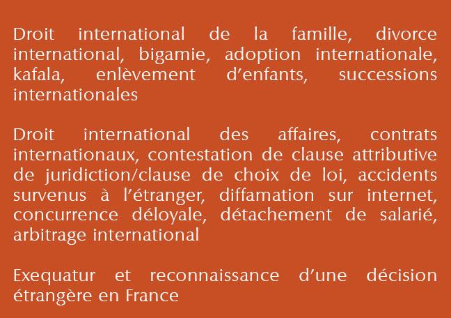 Droit international détails
